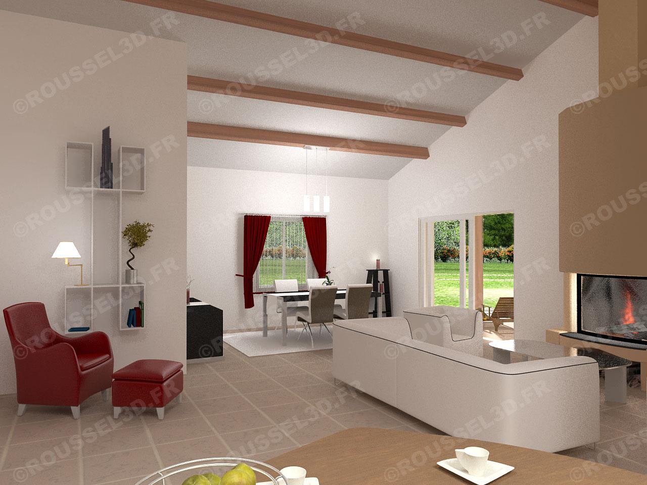 Interieur maison en 3d maison moderne for Interieur 3d