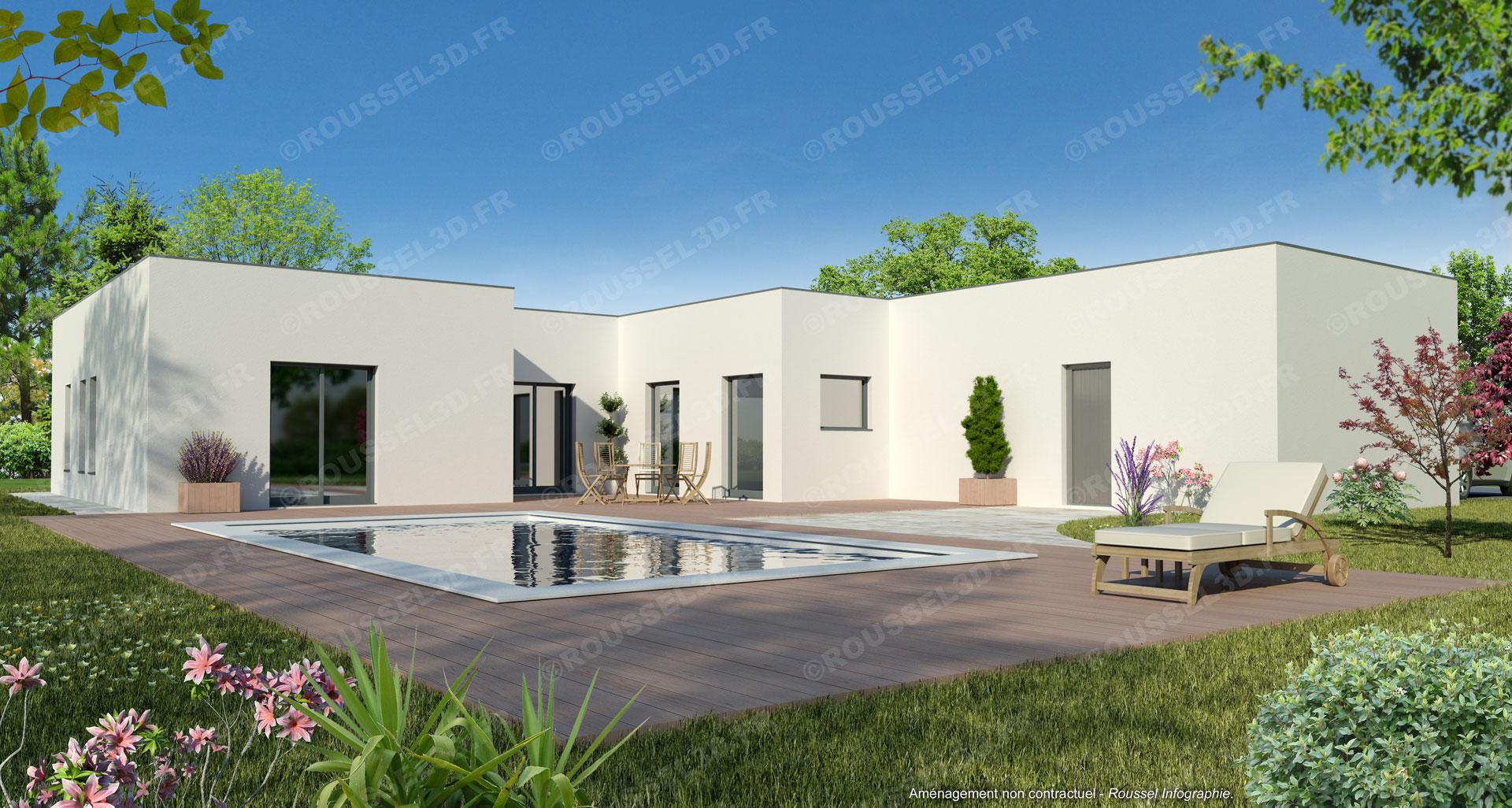 infographie 3d pour les constructeurs de maisons. Black Bedroom Furniture Sets. Home Design Ideas