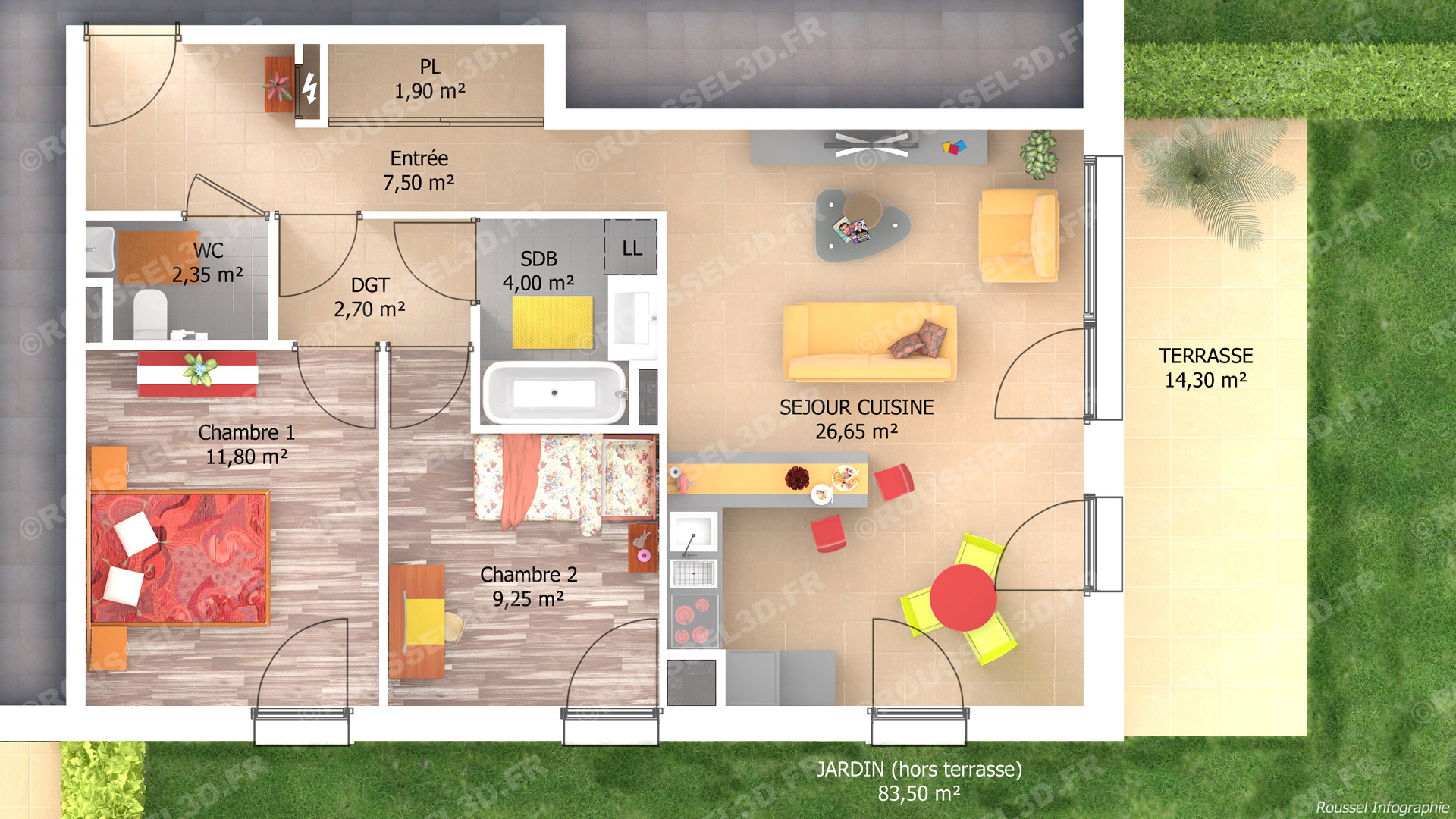 Simulation maison 3d gratuit simulateur plan maison avec for Simulation plan cuisine