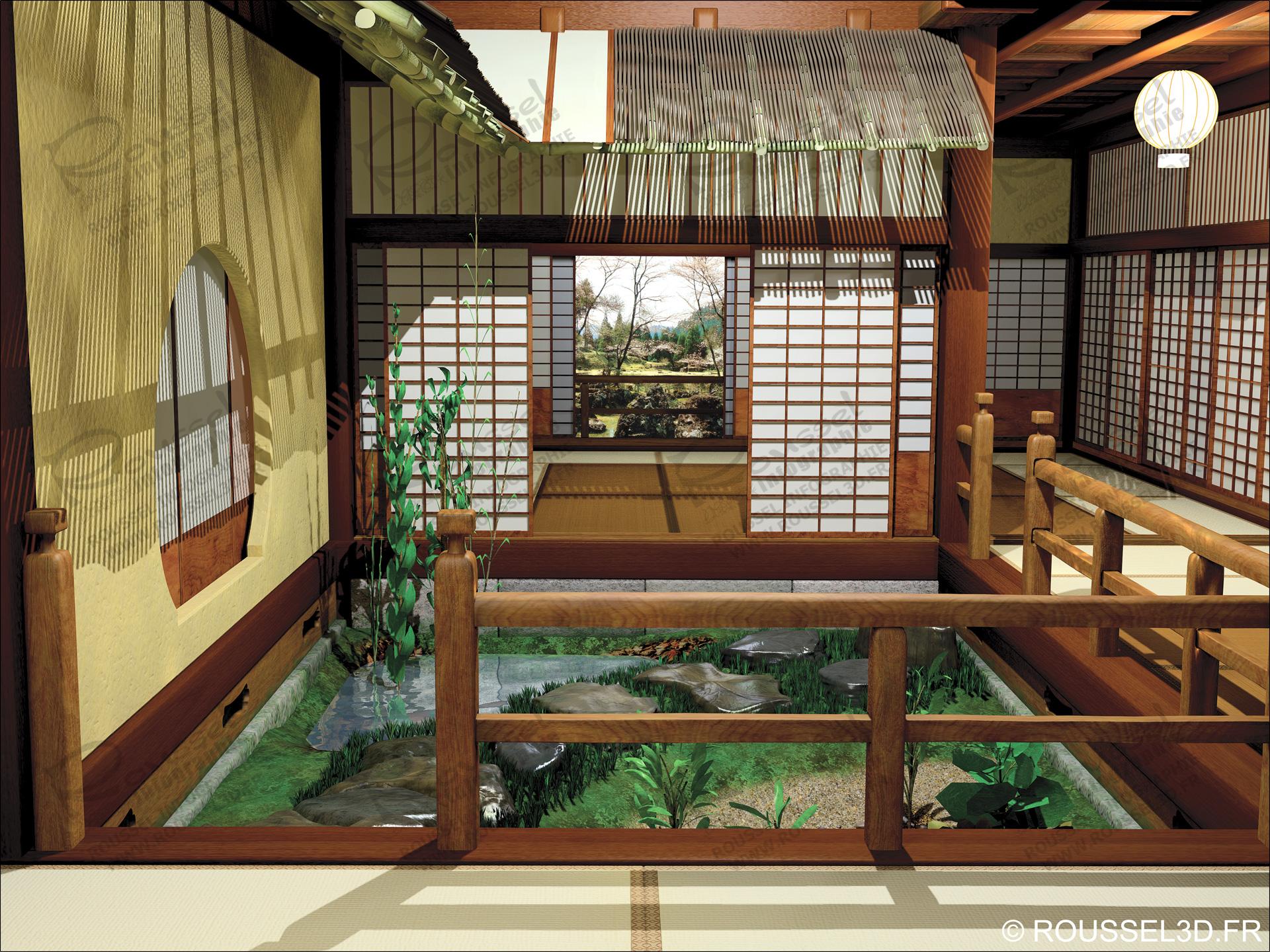 Perspectives photor alistes pour l 39 architecture d 39 int rieur - Decoration interieur japonais ...